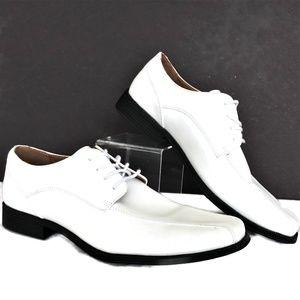 Mens Oxford White Dress Shoes Dexter 10.5 M Resort